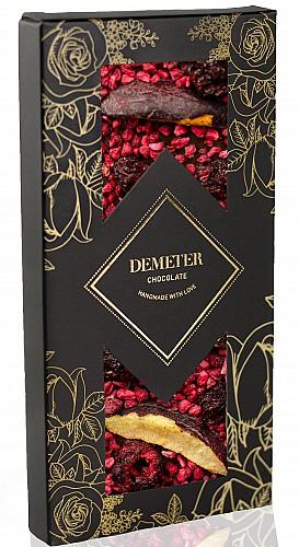 DemeterChocolate Étcsokoládé szilvával, meggyel és málnával