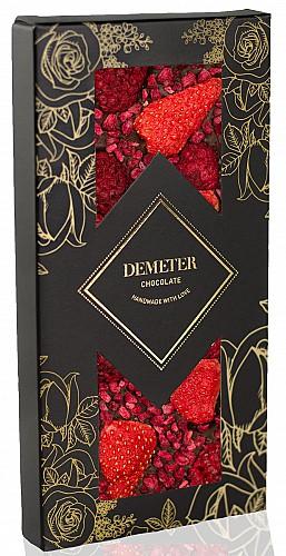 DemeterChocolate Étcsokoládé eperrel és málnával