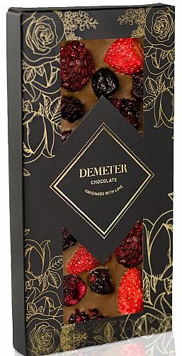 DemeterChocolate Tejcsokoládé szederrel, meggyel és eperrel