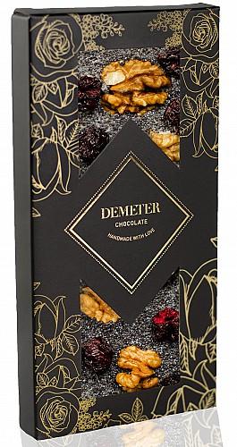 DemeterChocolate Fehércsokoládé meggyel, mákkal és dióval