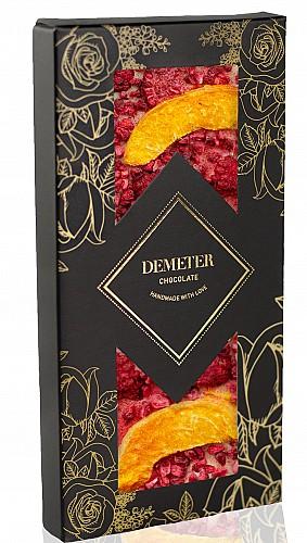 DemeterChocolate Fehércsokoládé sárgabarackkal és málnával