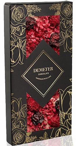 DemeterChocolate Fehércsokoládé meggyel és málnával
