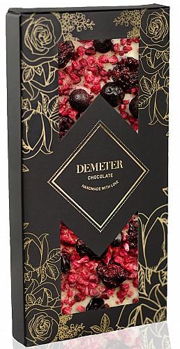 DemeterChocolate Fehércsokoládé feketeribizlivel, meggyel és málnával