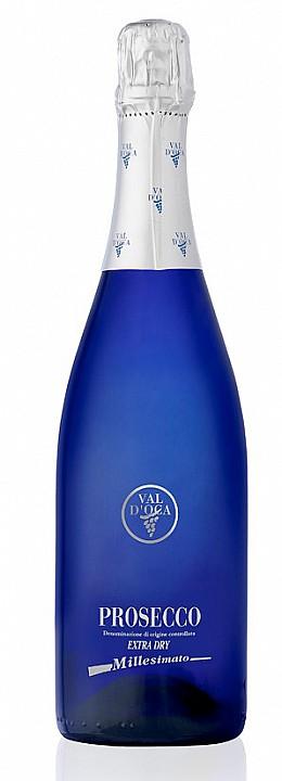 Val d'Oca Blue Prosecco D.O.C. Millesimato Extra Brut (0,75 L)