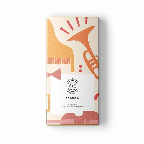 """Harlequin """"Adagio"""" – mogyorós tejcsokoládé szimfónia 40%"""