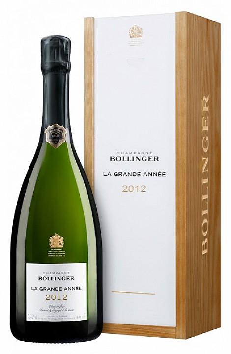 Bollinger La Grande Année 2012 (0,75 L) -fa díszdobozzal-